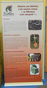 Panneau d'exposition sur le compostage