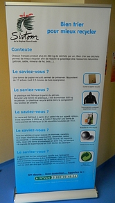 Panneau sur la valorisation des déchets recyclables